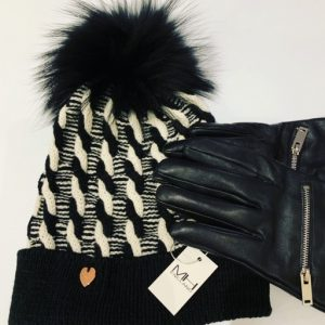 Mono Twist Bobble Hat