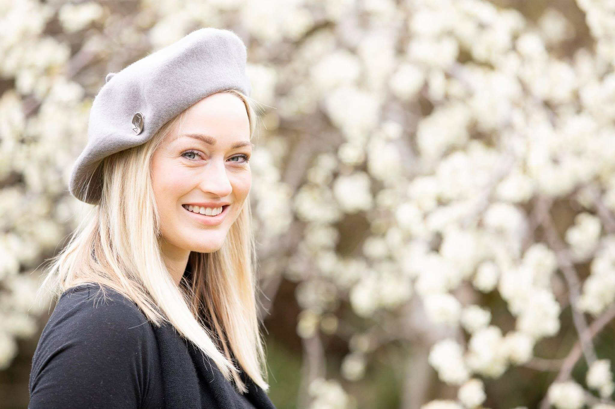 Grey Beret Hat