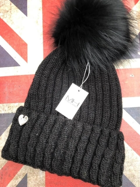 luxury cashmere bobble hat